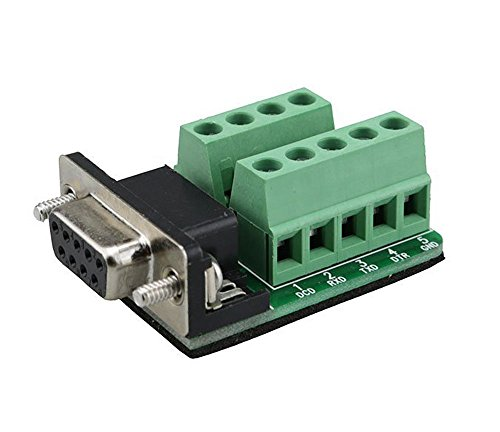 Sysly DB9 female D-SUB Adapter Plate Connector RS232 Serial to Terminal Board Signal Module Riveting Tooth