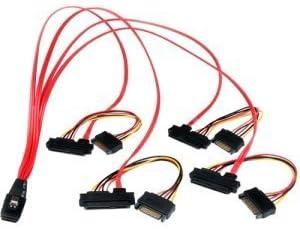 SFF8087 to 4x SFF8482 StarTech.com 50cm Internal Serial Attached SCSI Mini SAS Cable