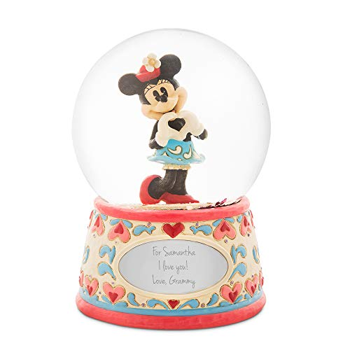 Things Remembered Personalized Jim Shore Disney Traditions Minnie Mouse Snow Globe with Engraving Included ()