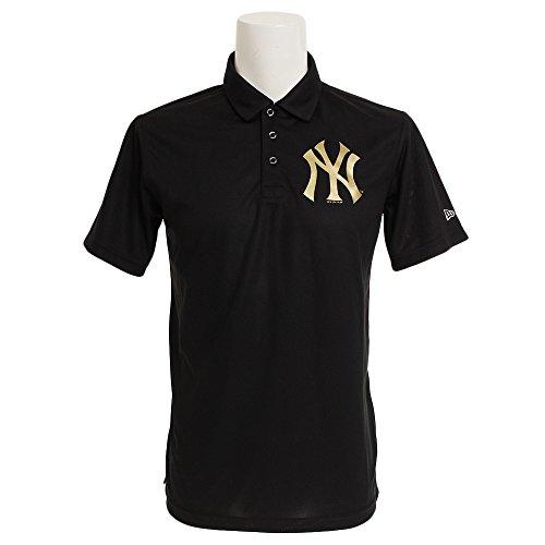 (ニューエラ) NEW ERA ゴルフ ポロシャツ 鹿の子 MLB ニューヨークヤンキース ブラック GOLF S
