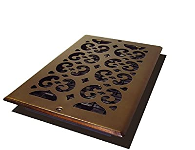 Decor Grates Scroll Steel Plated Wall Register