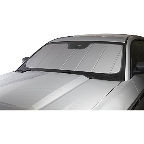 Covercraft Jeep - Covercraft UVS100(UV10637SV) - Series Heat Shield Custom Windshield Sunshade for Jeep Wrangler (Laminate Material, Silver)