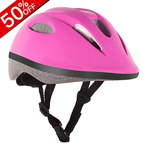 OUTON Safety Bike Helmet for Kids CPSC Cerified Scooter Kids Helmet Pink