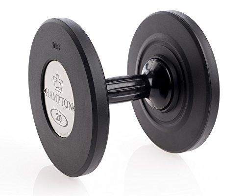 Hampton GEL-GRIP Urethane Dumbbell, Black -20 lb. Pair