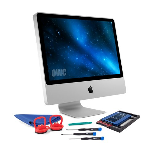 OWC SSD Upgrade Bundle For 2006-2009 iMacs, OWC Mercury Extreme Pro 6G SSD, AdaptaDrive 2.5″ to 3.5″ Drive Converter Bracket, Installation tools