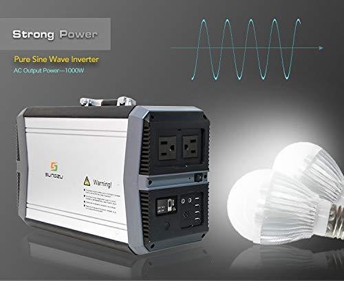Sungzu 1000 Watt Portable Generator Power Station 273
