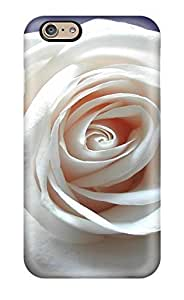 6970738K67965358 Protective PC Case With Fashion Design For Iphone 6 (white Rose Widescreen)