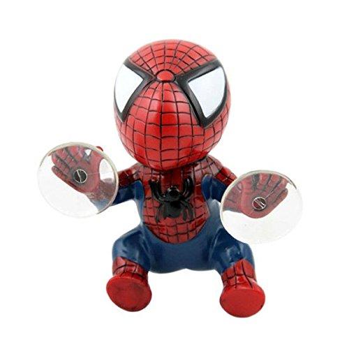 Shallen SUV Interior Window View Mirror Decorative Cute Spider Man With Sucker Doll 3W