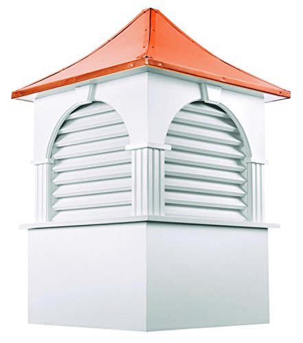 113'' Handcrafted ''Concord'' Copper Roof Vinyl Cupola by CC Home Furnishings