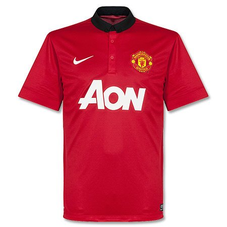 Nike Manchester United BOYS SHORT SLEEVE HOME REPLICA JERSEY (DIABLO RED) (10 Nike Replica Home Jersey)