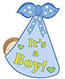 Cute News Welcome Home It's a Boy New Baby Door Sign - Newborn Announcement Decoration Hanger - Blue: more info