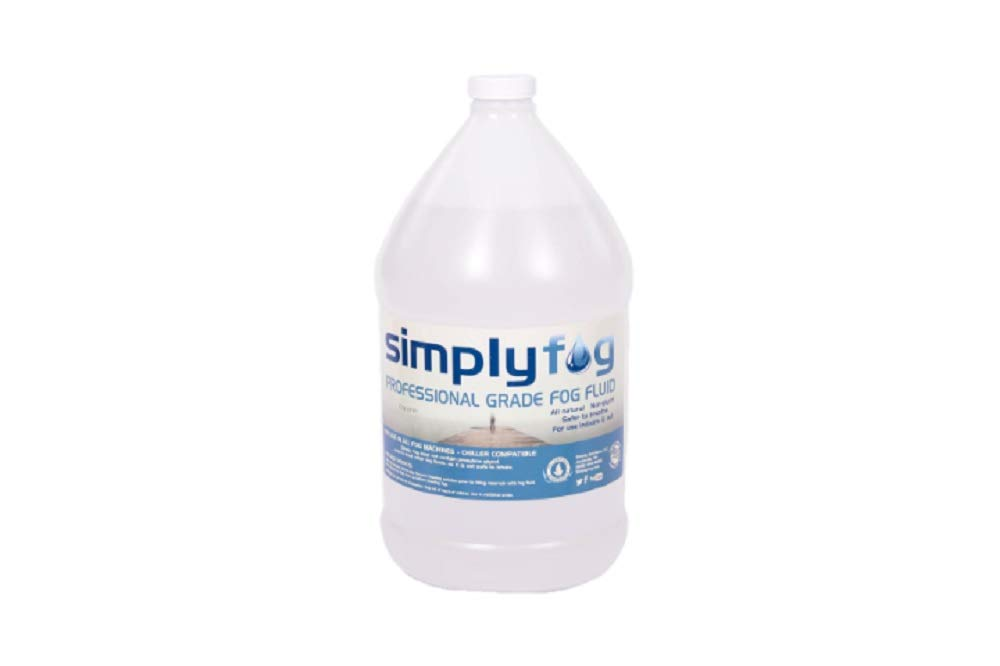 Simply Fog Professional Fog-SAFEST fog you can buy-1 Gallon All Natural Formula-Made in USA-33% more fog per gallon-no build up or clogs-no off-gassing-no noxious fumes-NO GLYCOL by Simply Fog