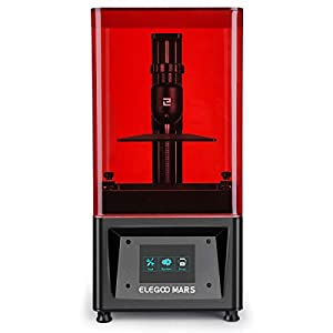 ELEGOO Mars UV Photocuring LCD 3D Printer with 3.5'' Smart Touch Color Screen Off-line Print 4.53in(L) x 2.56in(W) x 5… 3D Printers