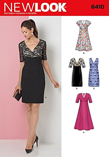 New Look Ladies Sewing Pattern 6410 Evening Dresses in 4 Styles ...