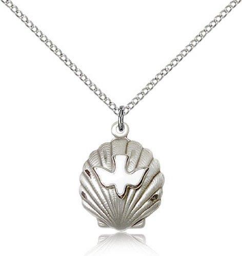 Icecarats Shell Créatrice De Bijoux En Argent Sterling / Sainte Pendentif Esprit 3/4 X 5/8 Pouces