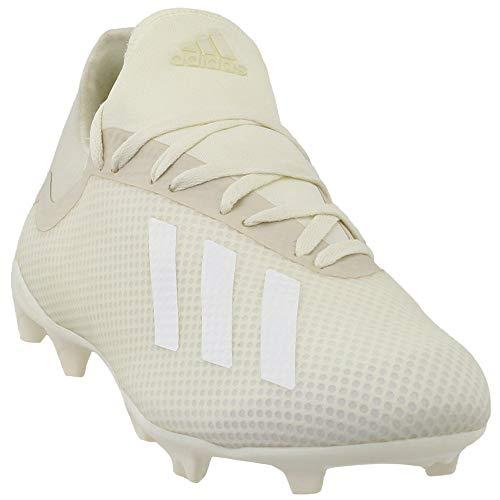 adidas Men's X 18.3 Firm Ground Soccer Shoe, Off White/White/Black, 10.5 M US