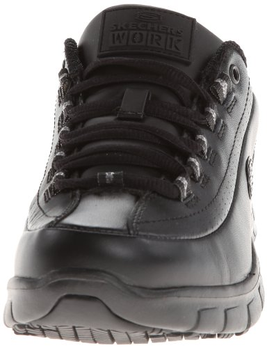 Skechers for Work Women's Sure Track Trickel Slip Resistant Work Shoe, Black, 8.5 M US