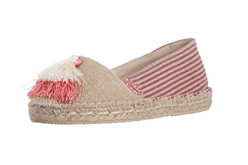 Casimiro Perez Womens Espadrille Jute Natural Con Nappine Skin Pink