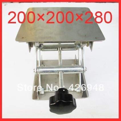 Ochoos Laboratory Equipment 200x200x280mm Stainless Steel Lifting Platform lab Lift Table 8'' inch