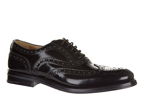 Classiche Pelle in Nero Donna CHURCH'S Brogue Nuove Scarpe Stringate AwBn7O