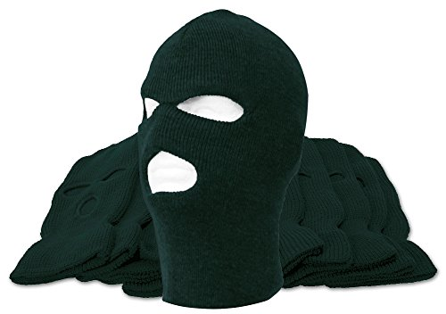 3-Hole Ski Mask - 12-Pack - Forest - Wholesale Ski