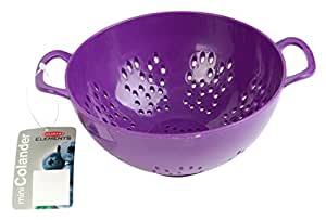 Culinary Elements 6-inch Mini Colander with Double Handles and Deep Bowl, Purple