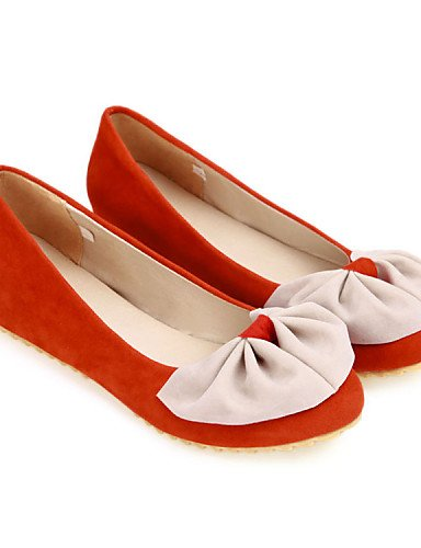 negro Ballerina naranja 5 talón cn38 uk5 de 5 PDX eu38 rojo vestido de casual plano zapatos terciopelo mujer us7 Flats black Pn0Oqa