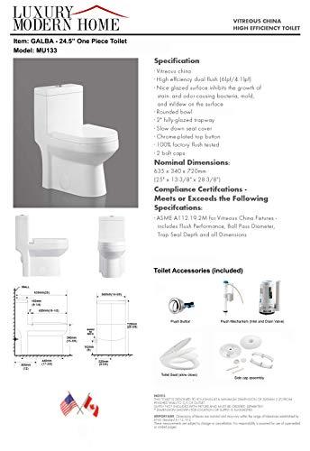 Galba Small Toilet 24 5 Quot Long X 13 5 Quot Wide X 28 5 Quot High Inch 1 Piece 24 Quot 25 Quot Short