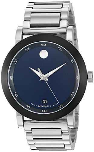 Museum Dial Stainless Bracelet (Movado Men's Swiss Quartz Stainless Steel Watch, Color: Silver-Toned (Model: 0607004))