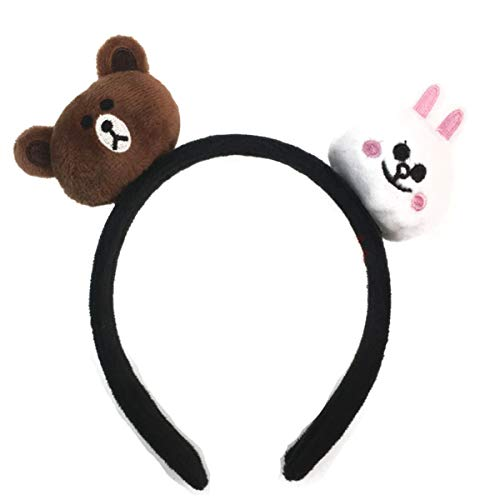 Brown And Cony Costumes - 3D Brown Bear Ear Headbands, Cute Bunny Cony Animal Costumes Hairband, Cartoon