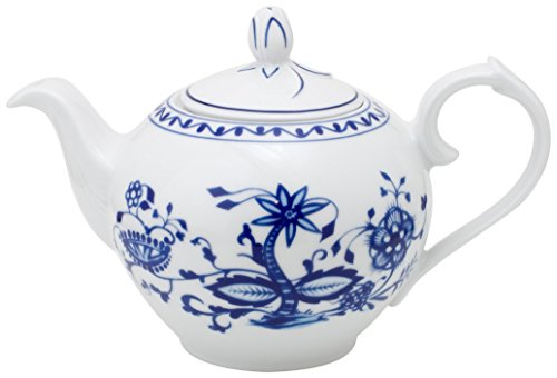 40.5 Ounce Coffee Pot - KAHLA Onion Pattern, Teapot 40-1/2 oz, Rossella Color, 1 Piece