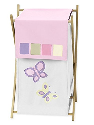 Kids Laundry Hamper for the Pink and Purple Butterfly Collection by Sweet Jojo Designs -