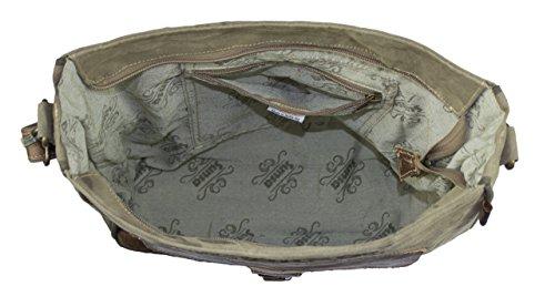 Sunsa Borse da Donna Vintage Borse a tracolla Borsette in Canvas / Telo olona con pelle 51772