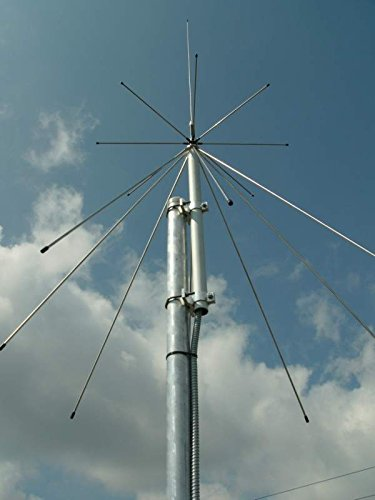 SIRIO SD 1300 Discone Antenna 25 MHz - 1.3 GHz with 50ft RG8x Coax by Sirio Antenna (Image #2)