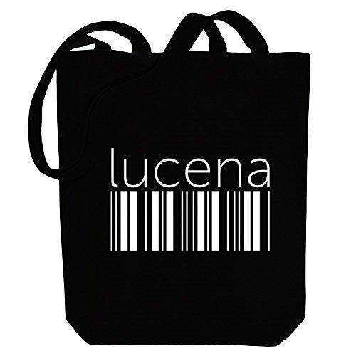 Lucena Cities barcode Idakoos Tote Canvas Bag Idakoos Lucena 48qw6xEFnv
