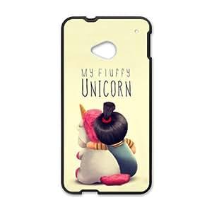 My Fluffy Unicorn Black htc M7 case