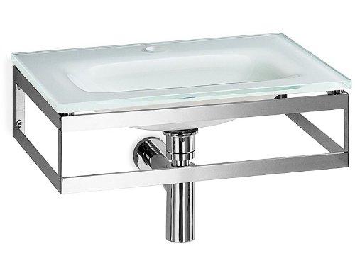Waschtisch Glaswaschbecken 51x35cm Weiß Serie Pocia Lineabeta