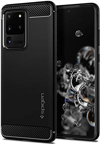 6.87 Pulgadas Negro Mate Doble Capa y Protecci/ón Extrema contra ca/ídas Spigen Funda Rugged Armor para Samsung Galaxy Note 20 Ultra