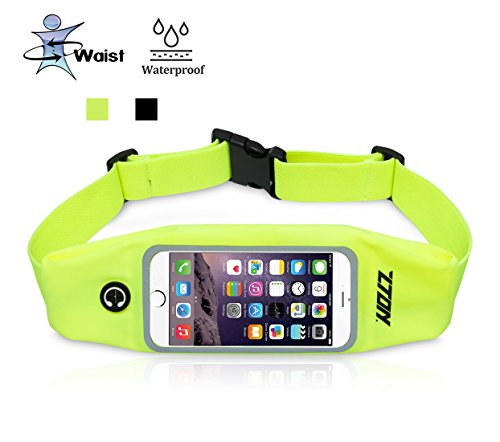 Running Belt, ZTON Sweatproof Adjustable Waist Pack With Compact Scalability Pocket, Workout Fanny Pack for iPhone, Samsung Galaxy, LG, HTC, Blackberry for Sport Gym Jogging Fitness.