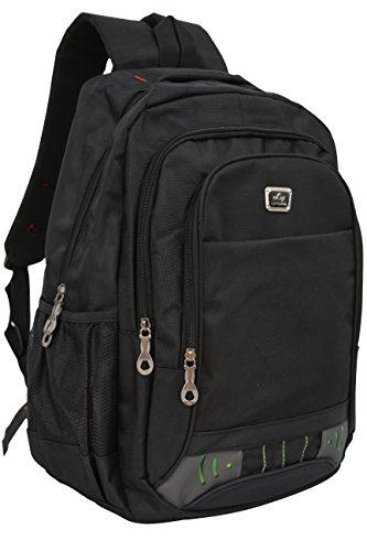 Rucksack Damen Herren Studenten Backpack 17 Zoll Laptop Rucksack Notebook Daypacks Schüler Backpacks Schultaschen of 2 Side Pockets für Wandern Reisen Camping Wochende Schwarz (Schwarz 2) Schwarz