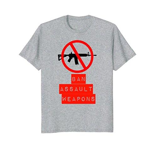 Mens Ban Assault Weapons - Anti Gun T Shirt 3XL Heather - 10 Ban