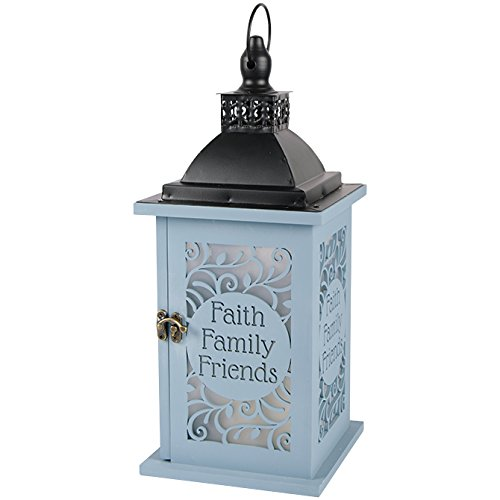 Lantern-Faith Family Friends w/LED Candle & Timer (13.75 x 5 1/2)