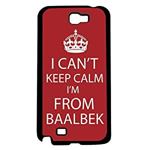 """Red and White """"Keep Calm, I'm From Baalek"""" Hard Snap on Phone Case (Note 2 II)"""