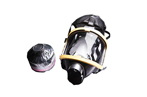 [Full Face Silicone Respirator Mask NBC Protection 40mm Threads - For Industrial Use, Chemical Handling, Painting, Welding,] (Full Face Gas Mask Costume)