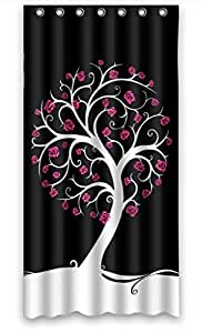 Polyester Shower curtain, Botany Love Tree Design Sweet, size Width * Height / 36*72 inch / 91*183 cm Custom design, Durable, best and suitable for family