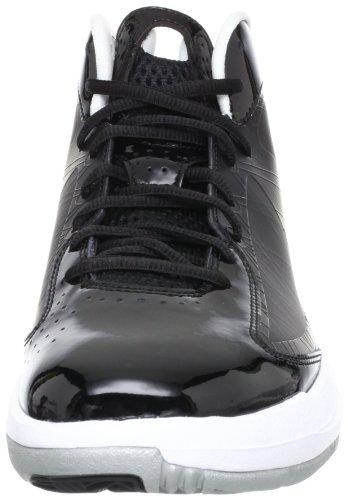 Nike Jordan Aero Flight Männer Basketballschuhe Schwarz / Weiß-metallic Silber