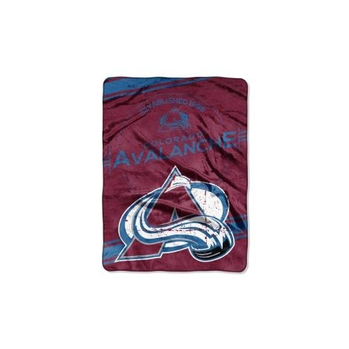 The Northwest Company Officially Licensed NHL Colorado Avalanche Stamp Plush Raschel Throw Blanket, 60