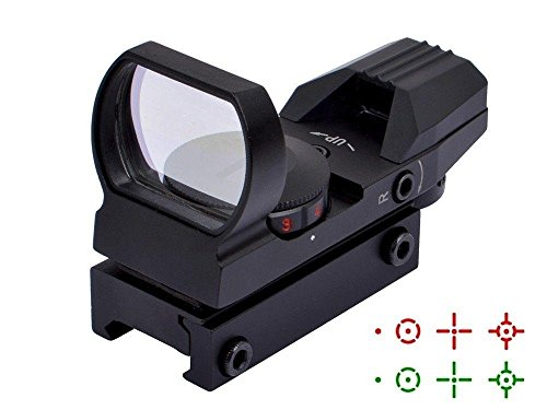 (Fyland Tactical Red Dot Sight 4 Reticles Green and Red Reflex Sight for Rifle Gun with Weaver Picatinny Rail Mount)