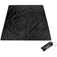 Outdoor Activities Waterproof Multifunctional Mat, YiMiky Camping Oxford PU Coating Moisture-Proof Crawling Beach Garden Picnic Hiking Mat Thick Tent Pad Barbecue Practical Shed Cloth Awning(S)
