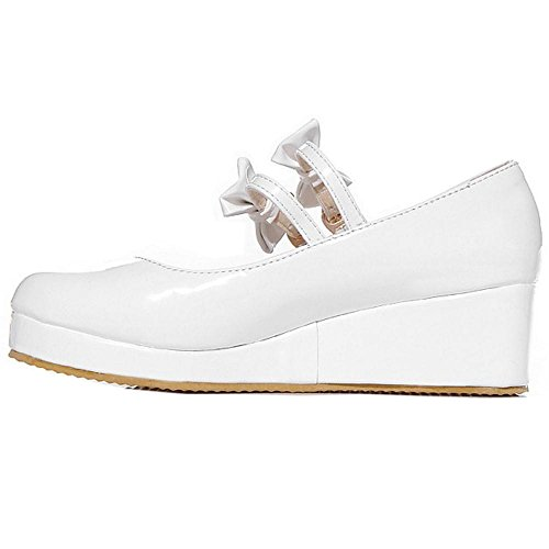 White Plateforme RAZAMAZA Tricoter Femmes 13 Chaussures 7qEI6pOw